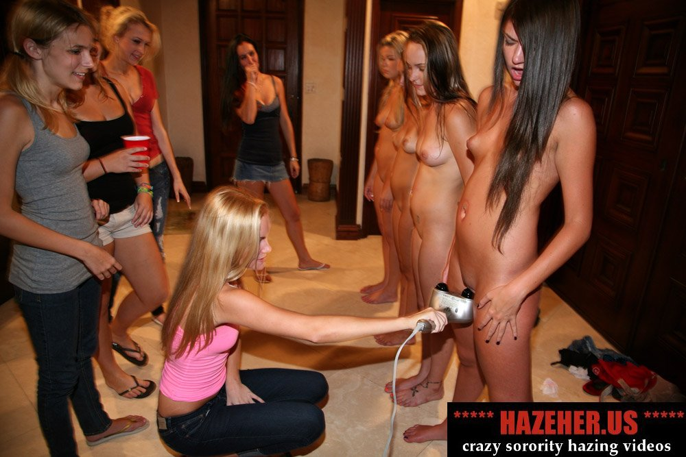 college girls hazing naked